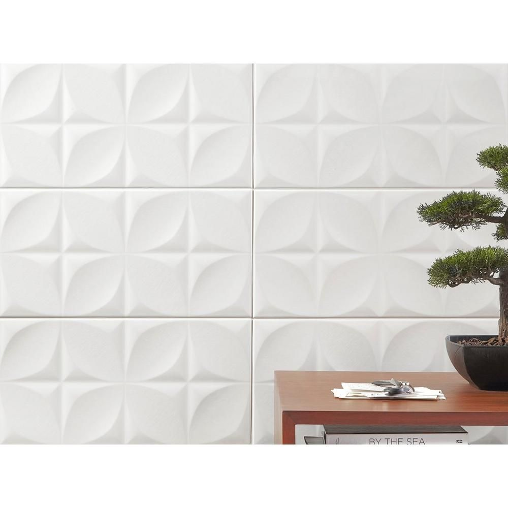 Polar White Ceramic Tile 10 X 30 100402585 Floor And Decor White Ceramic Tiles White Tile Backsplash White Tile Kitchen Backsplash