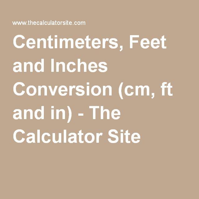 Cm feet inch