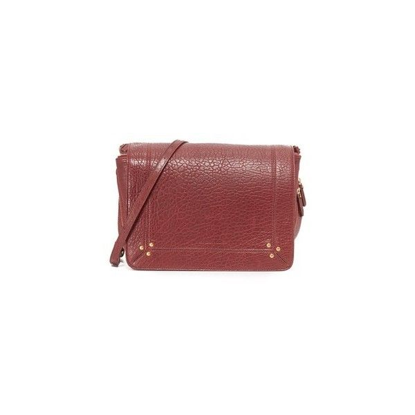 Jerome Dreyfuss Igor Shoulder Bag (€615) ❤ liked on Polyvore featuring bags, handbags, shoulder bags, burgundy, red leather shoulder bag, burgundy purse, genuine leather handbags, red handbags and mini handbags