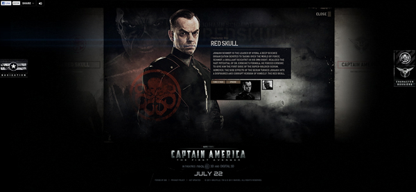 CAPTAIN AMERICA - THEATRICAL SITE by Watson, via Behance