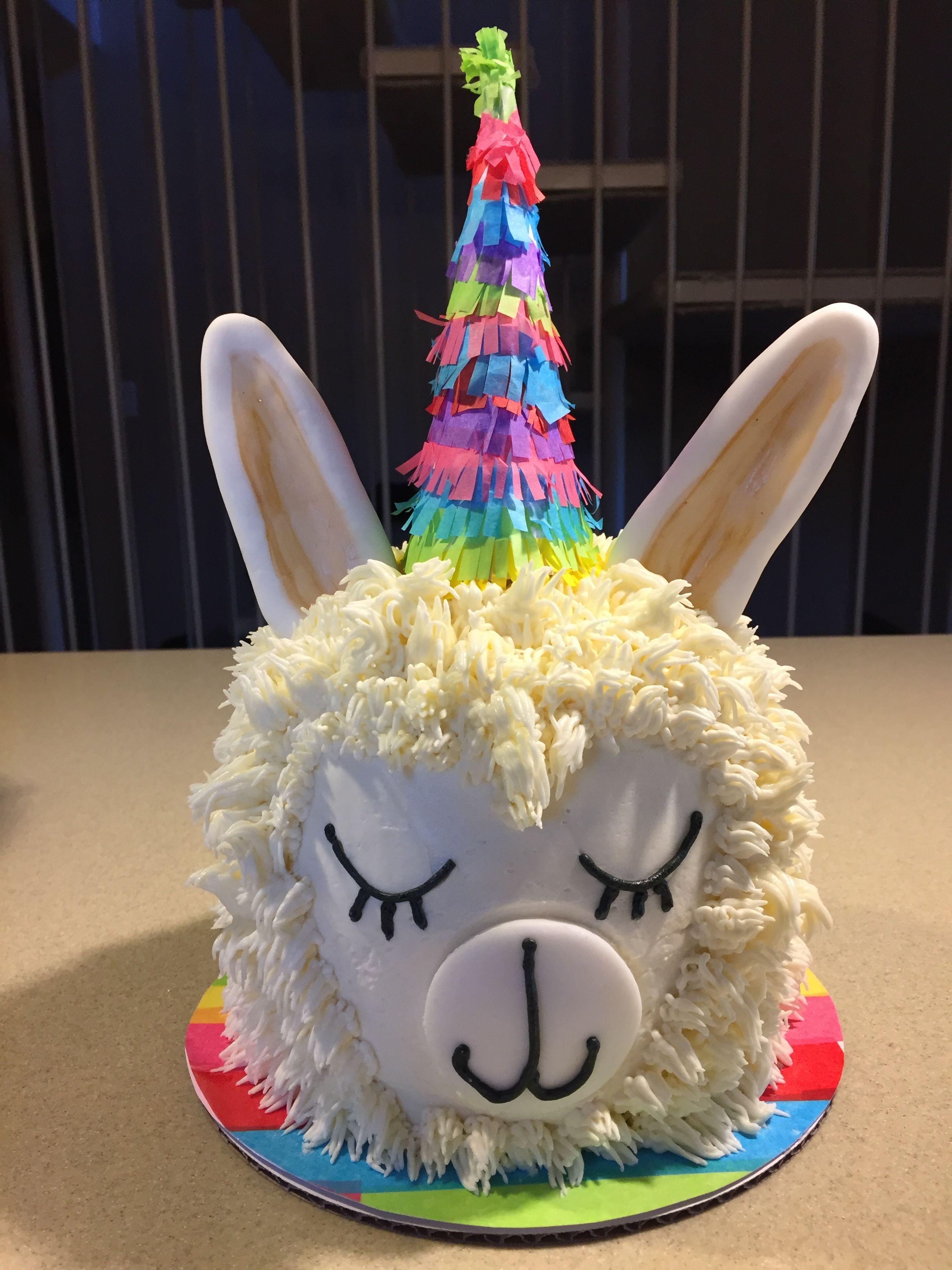 Fiesta Lama Smash Cake Llama Birthday Girls Fun Rustic