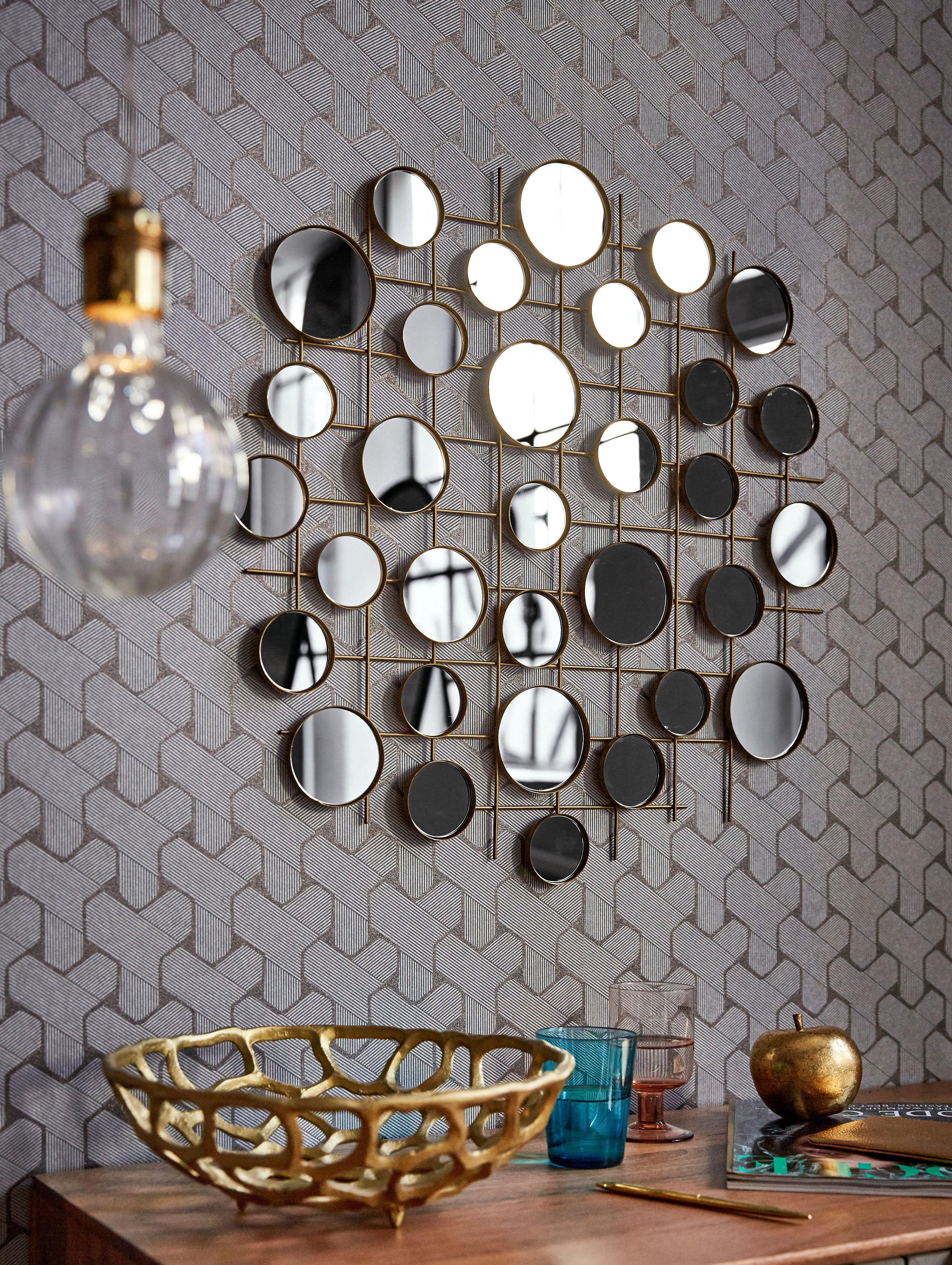 mehr ist schon deko trends wandschmuck wandobjekt metall gold wanddekoration silberfarben