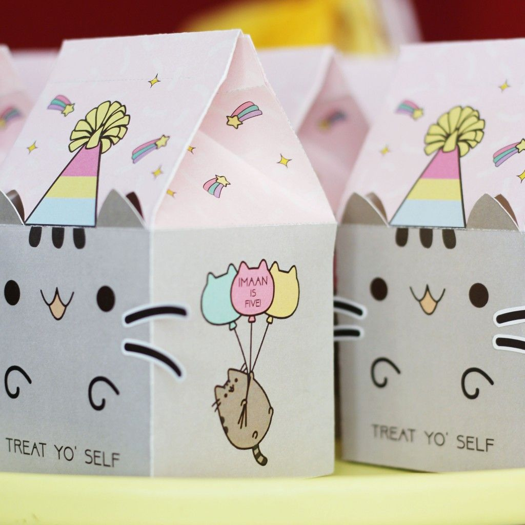 Pusheen Birthday Pawty Pusheen Birthday Cat Party Decorations Cat Themed Birthday Party