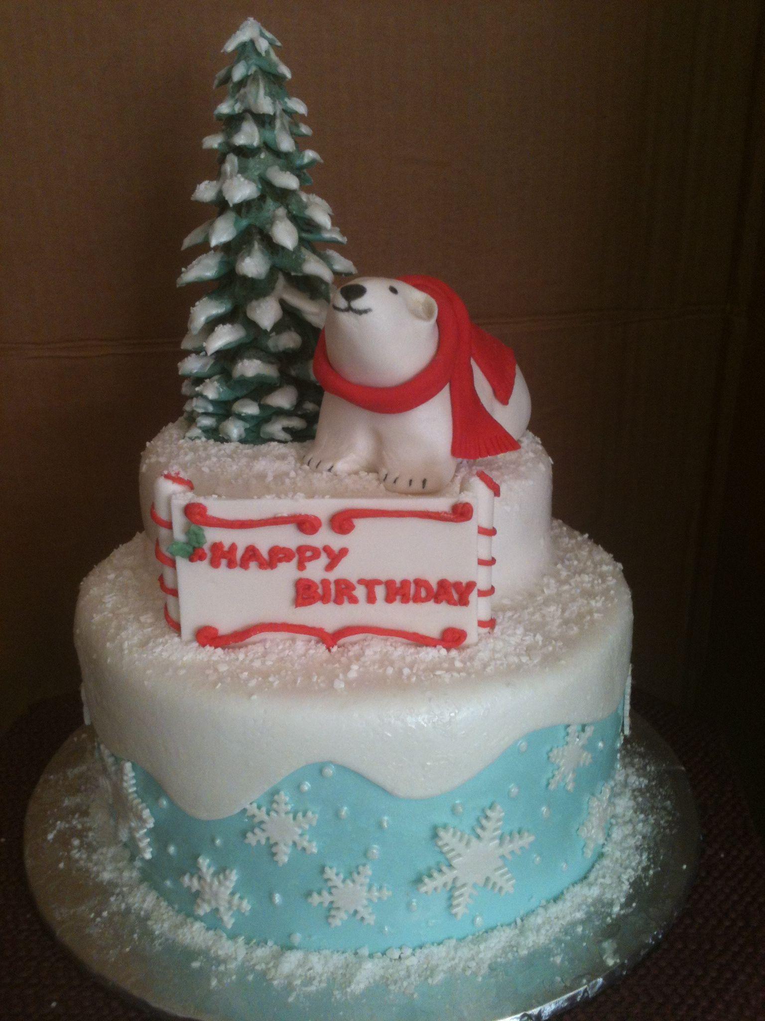 Superb Polar Bear Birthday Cake Cake Bear Birthday Birthday Cake Birthday Cards Printable Giouspongecafe Filternl