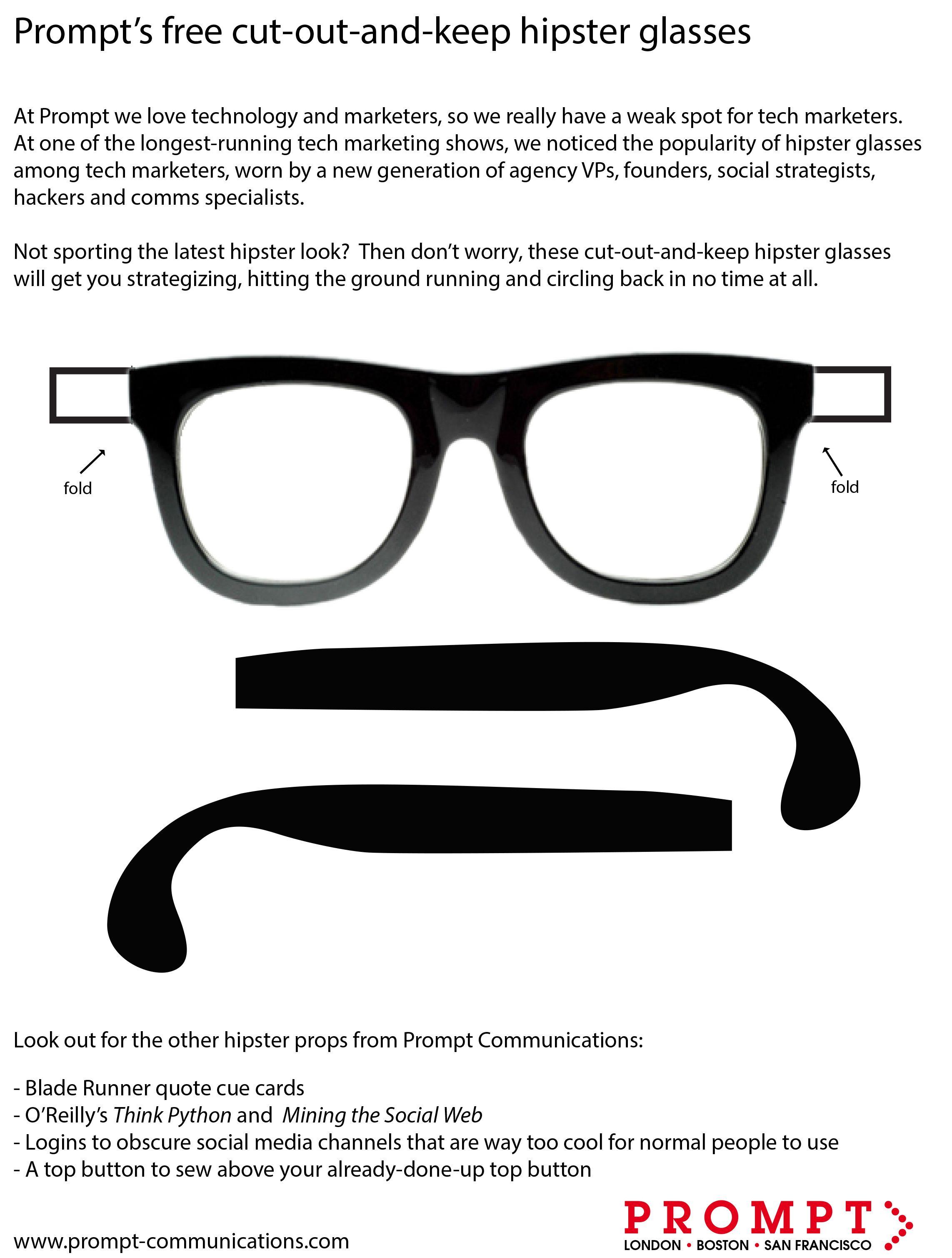 Glasses Printable
