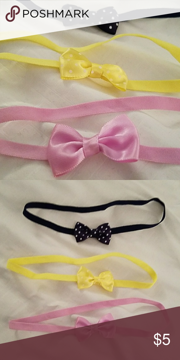 Carters Baby Headbands 🌟 EUC 🎀 Carters 3 pack headbands 🎀 light purple  with solid bow 26afe4078ff