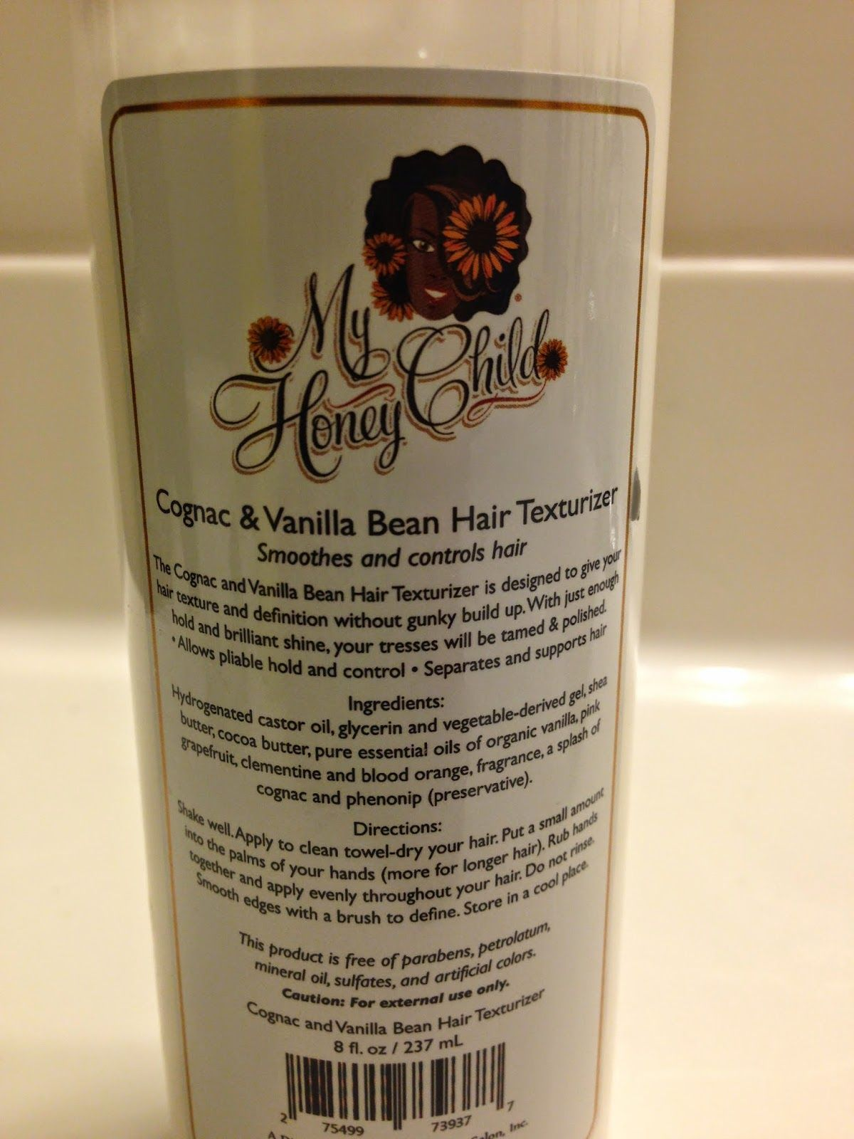 The Cognac u Vanilla Bean Texturizer by My Honey Child provides a