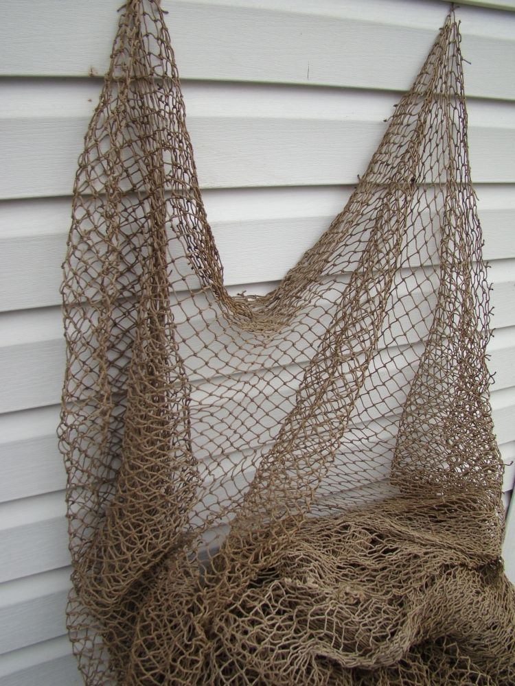 Details About Authentic Used Fish Netting 10 X 10 Real Genuine Fishermans Net Fishnet Felt Ball Wool Felt Handcraft