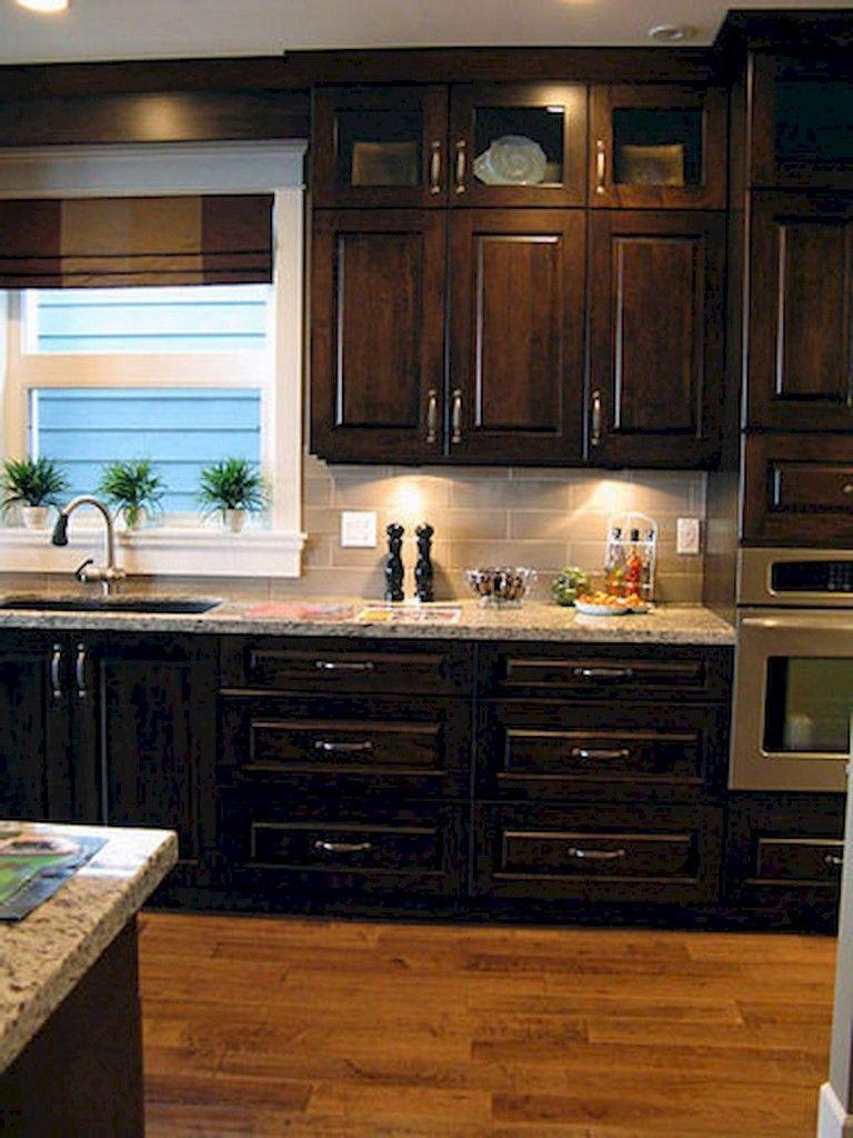 92 Amazing Kitchen Backsplash Dark Cabinets Backsplash With Dark Cabinets New Kitchen Cabinets Kitchen Design