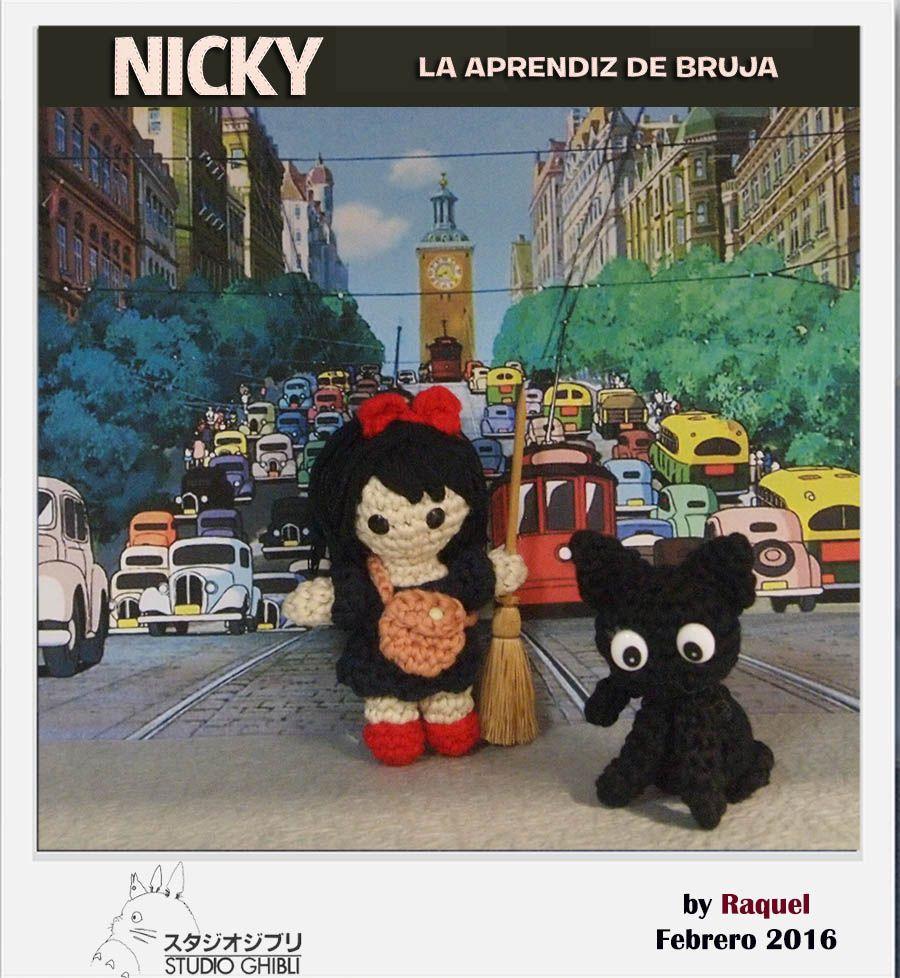 #amigurumi Nicky aprendiz de bruja