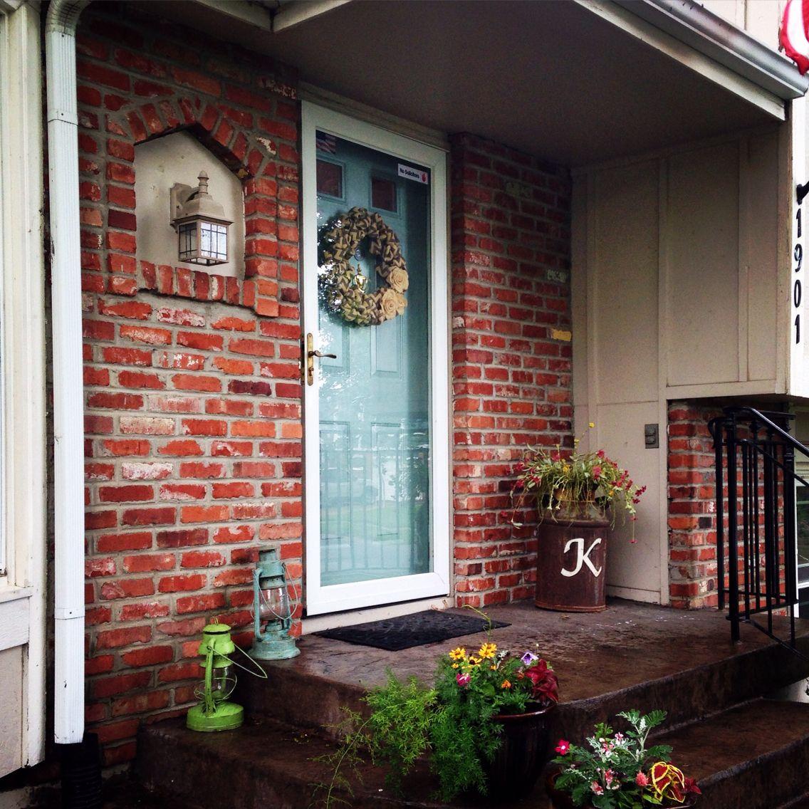 Annie Sloan Chalk Paint Front Door In Duck Egg