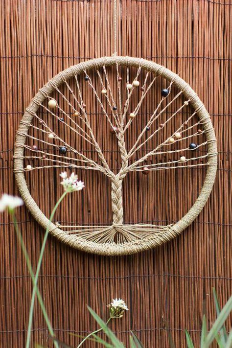 ▷ 1001+ Ideen für Traumfänger basteln - erfahren Sie mehr über die indianische Tradition #kreativehandwerke