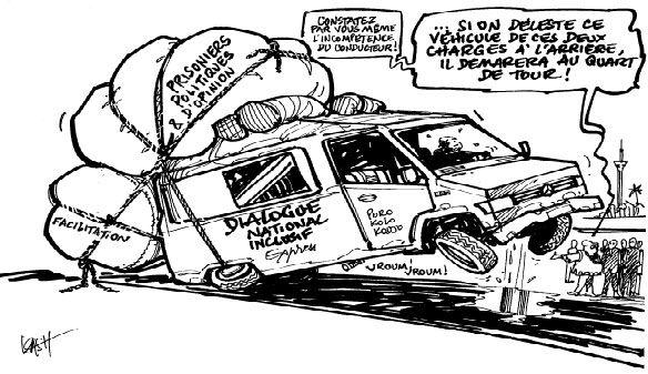 20160805 Caricaturist #Kash Dialogue derniers prealables du Rassemblement #RDC