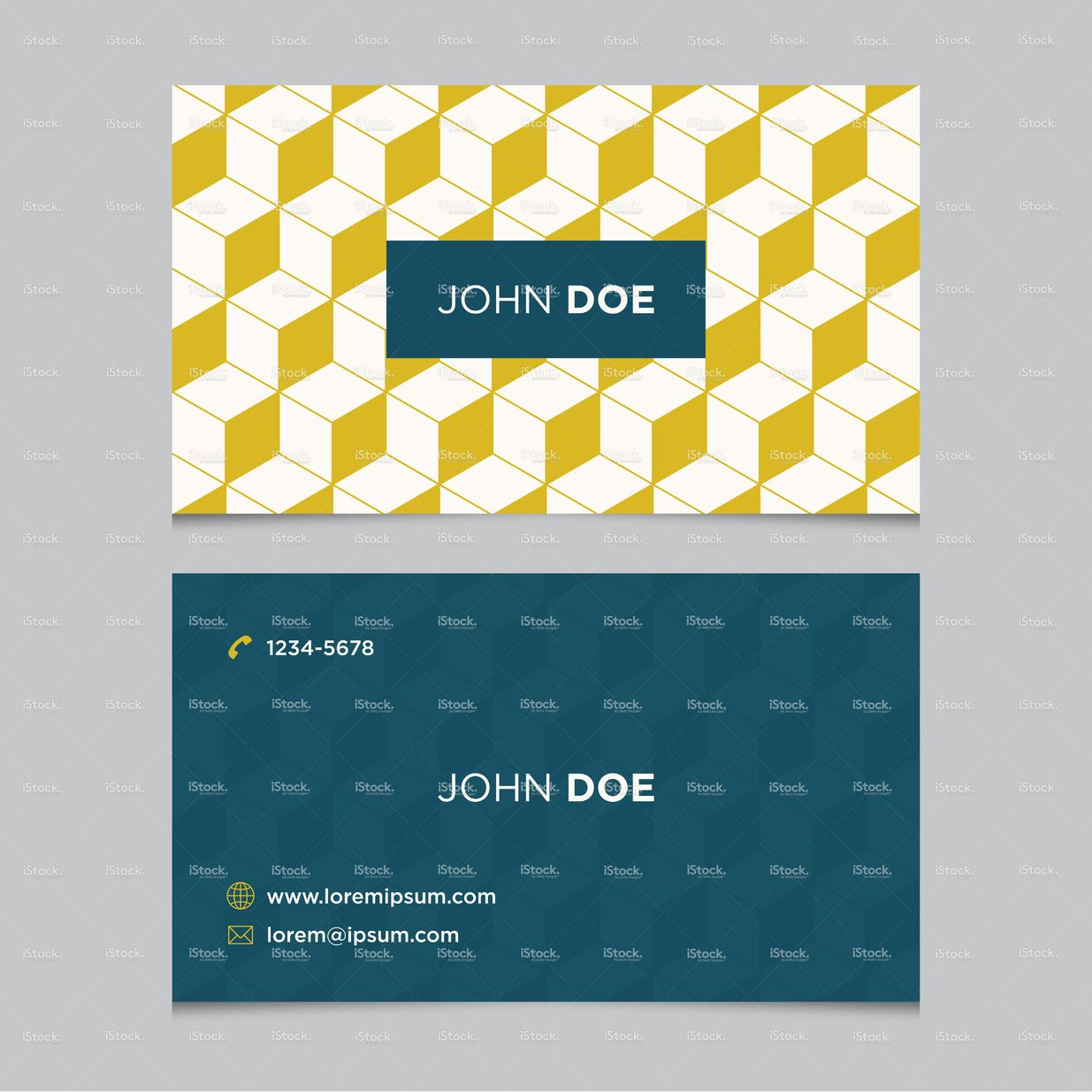 Business Card Template With Background Pattern 09 Stock Vector Art 41109552