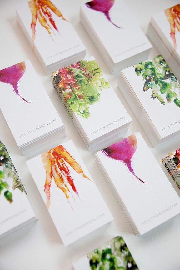 Watercolor Veggies colors logo business cards corporate identities
