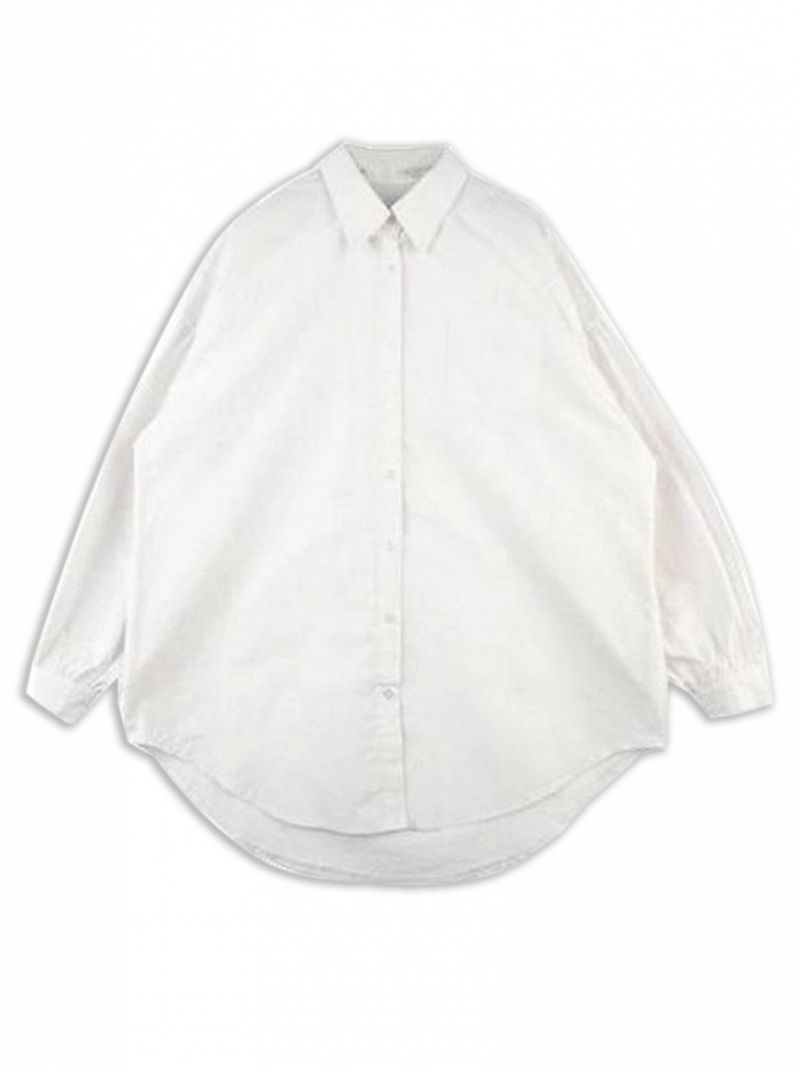 Polyestercottonthis white shirt with cape sleeve crafted in