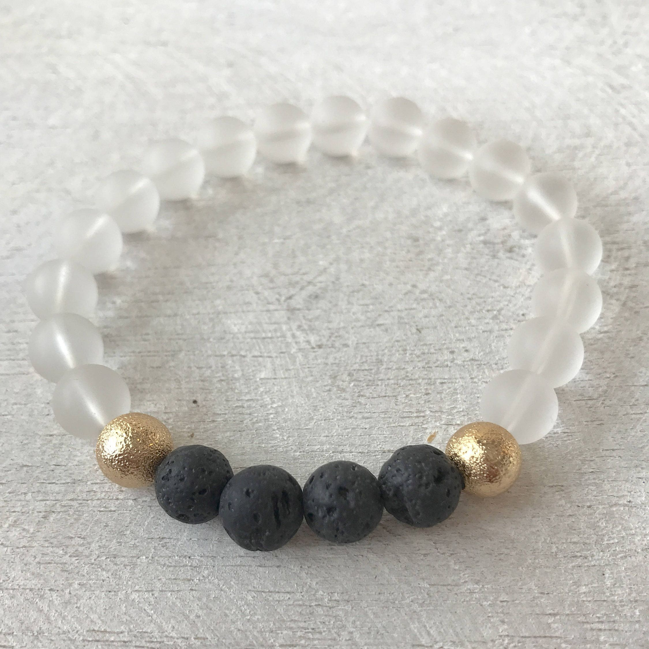Lave bead diffusing bracelet by alohijewelry on etsy alohi