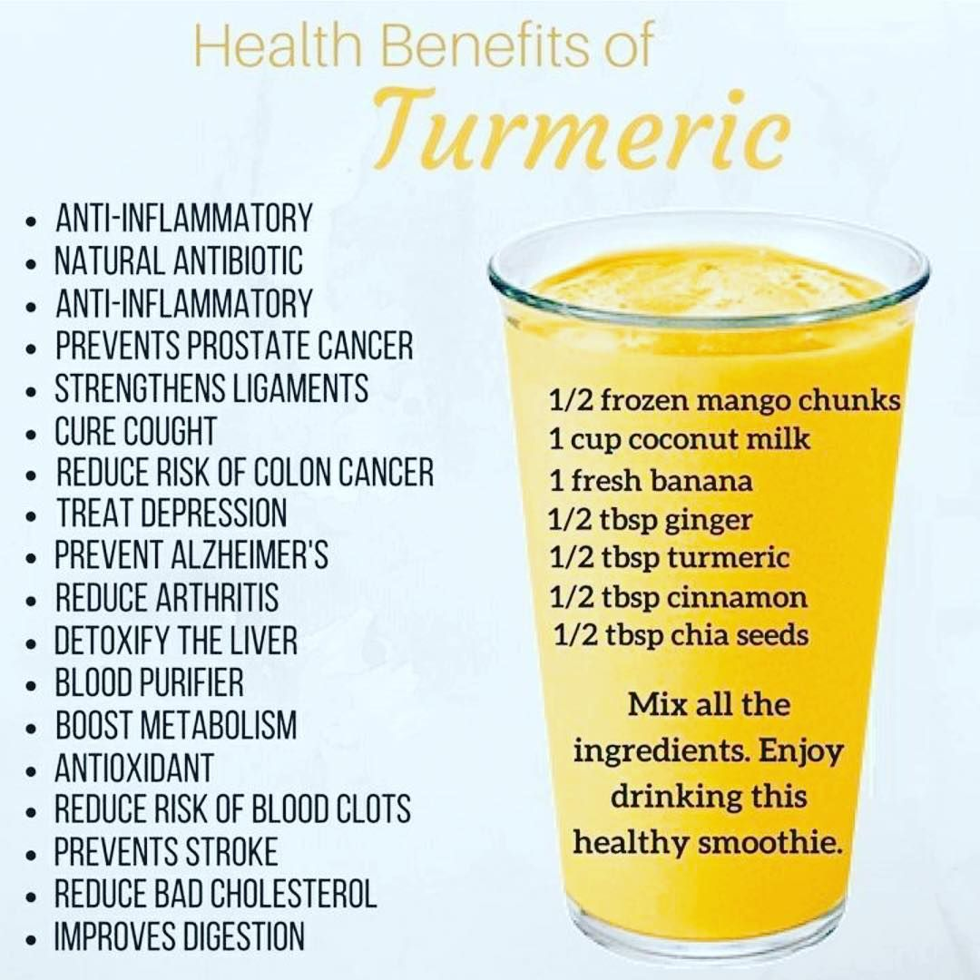turmeric lattes and smoothies make a great anti-inflammatory