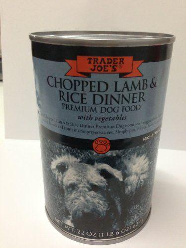 Trader Joes Chopped Lamb Rice Dinner Primium Dog Food Read More