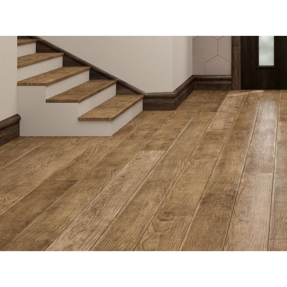 NuCore Driftwood Oak Plank with Cork Back  Floor & Decor in 3