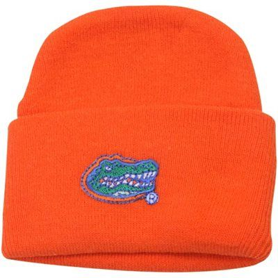 san francisco bd53b 025dc Florida Gators Newborn Orange Cuffed Knit Beanie
