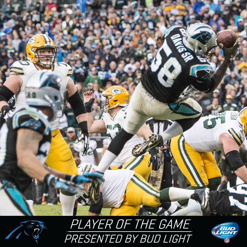 TD is your Bud Light Player of the Game! GBvsCAR