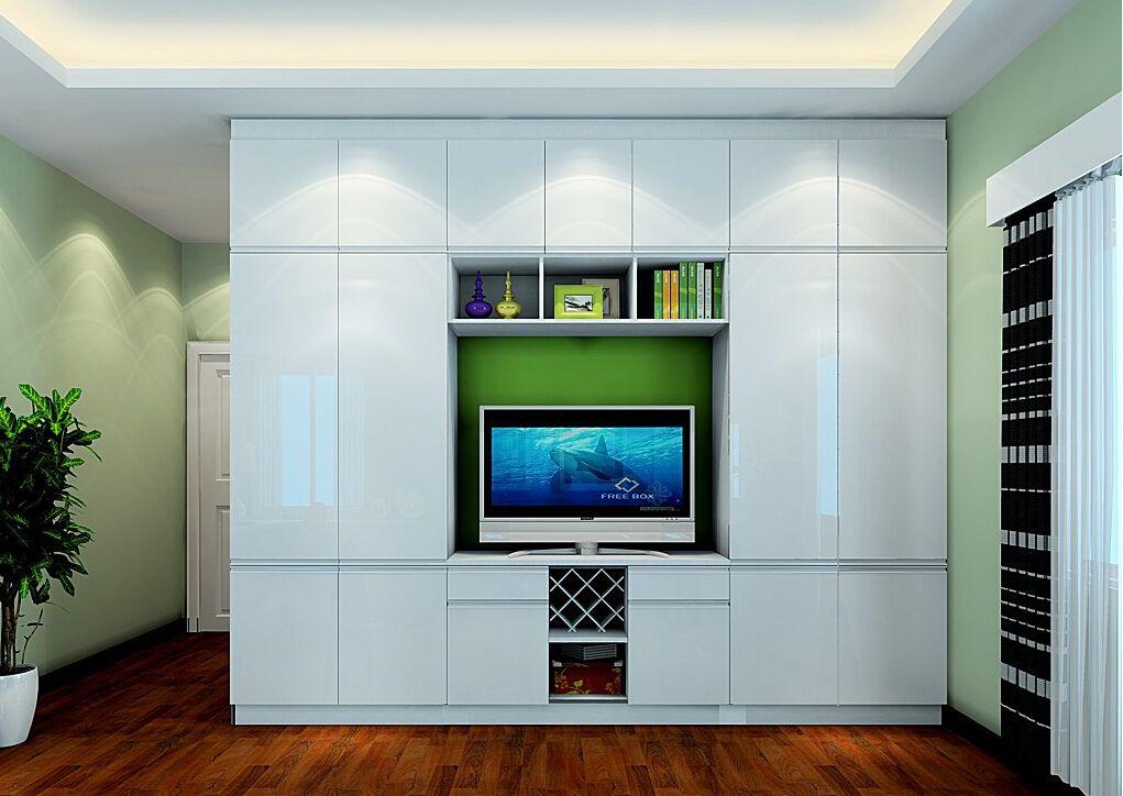 Creative Wardrobe And TV Cabinet Combo