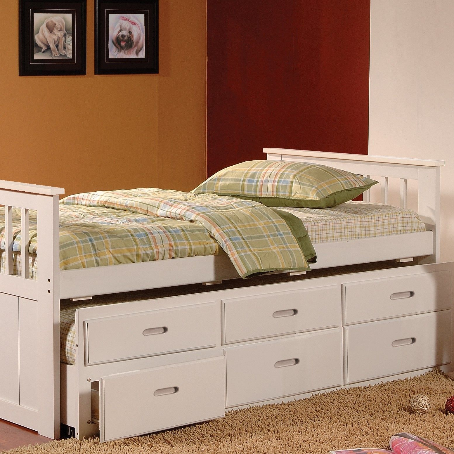 Features Size Twin. Trundle maximum mattress height 6