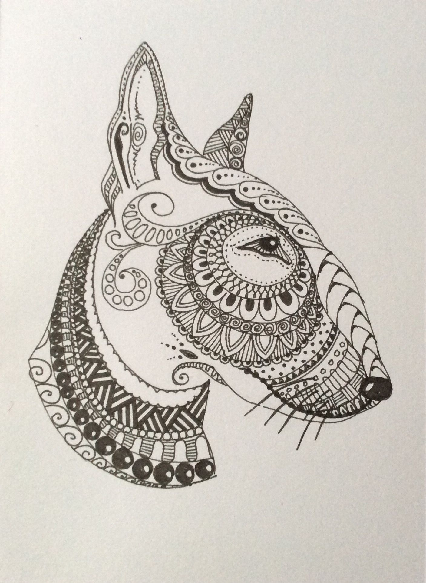 Bullterrier Horse Coloring Pages Horse Coloring Bull Terrier