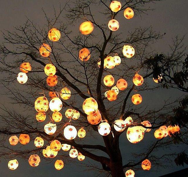 paper lantern decoration ideas.htm lantern tree halloween tree decorations  diy tree decor  diy  halloween tree decorations