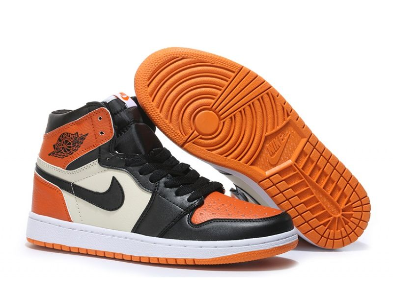 Air Jordan 1 High Orange Black White For