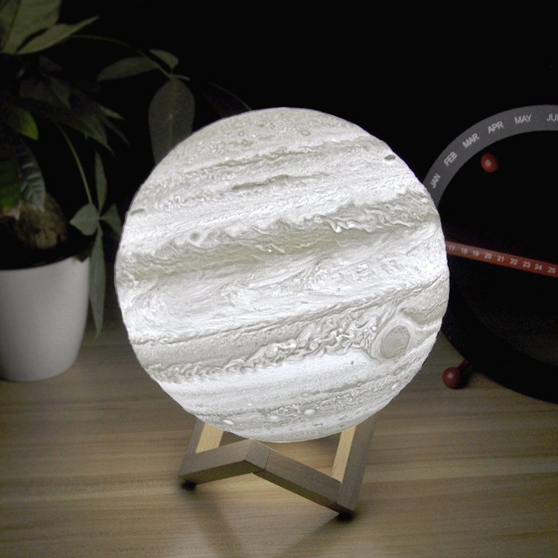 Jupiter Lamp 3D Print Moon rechargeable lithophane with