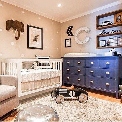 Baby Boy Nursery Decorations Blue And Beige Nurseries