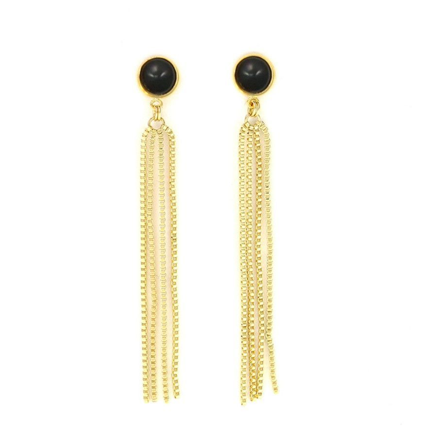 Grove Fringe Earring - Black
