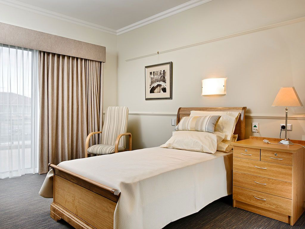 Aged Care Reception Bedroom Senior Living Interior Design Residential Care Home Assisted