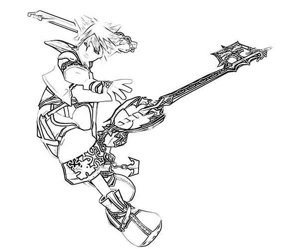 Top 25 Free Printable Kingdom Hearts Coloring Pages Online | 500x600