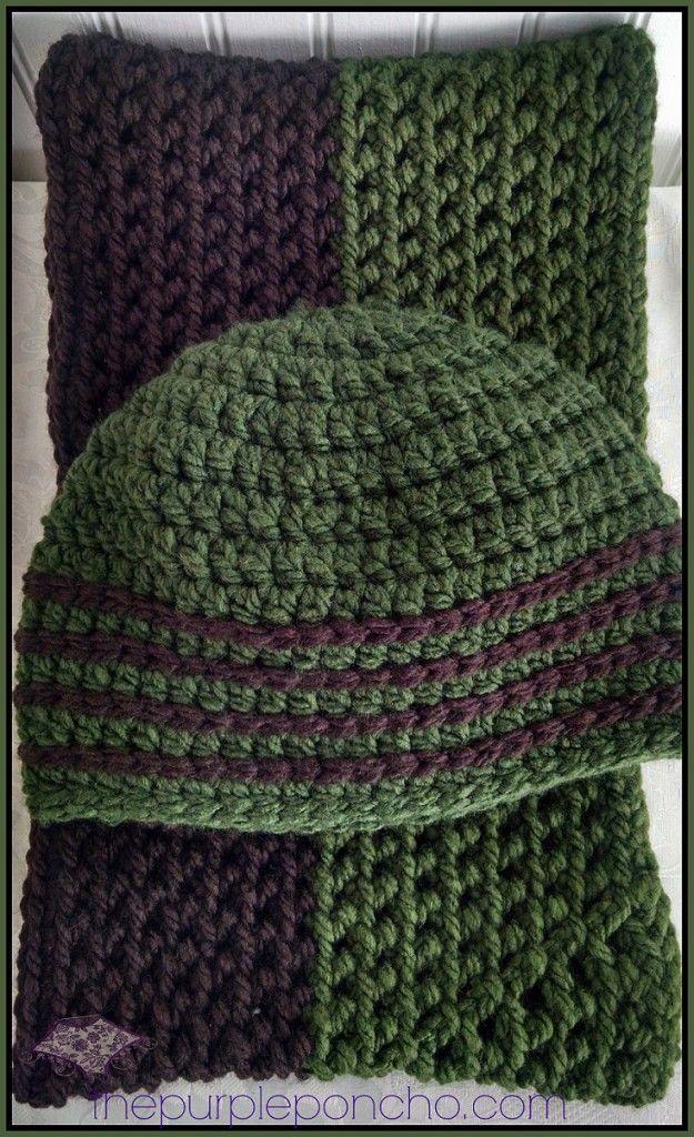 Classic winter beanie herringbone infinity scarf free crochet classic winter beanie herringbone infinity scarf free crochet patterns by the purple poncho dt1010fo