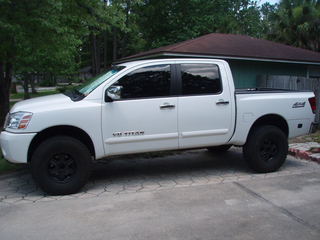 Nissan tundra white white nissan titan lifted fxdwzgp trucks nissan titan white with black rims find the classic rims of your dreams vanachro Choice Image