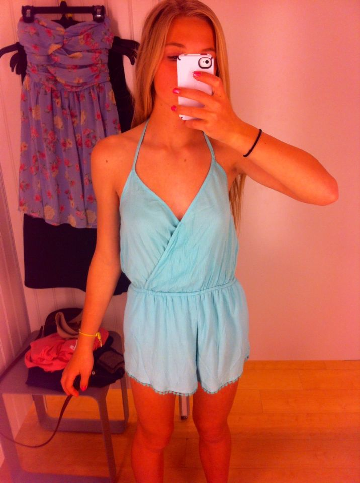 90749dd82d6 Almost bought this cute romper today at Marshall s - me in pic ...