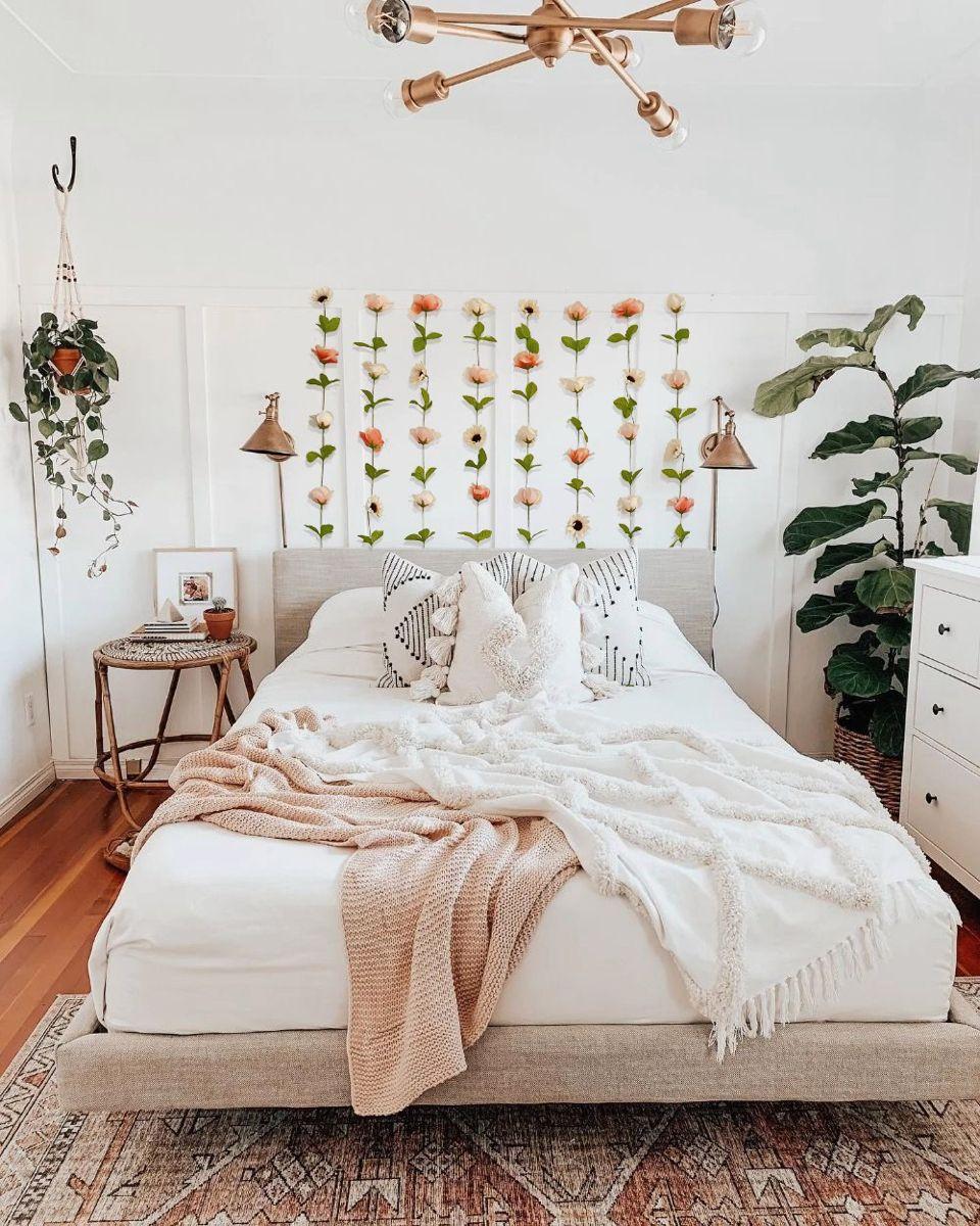 retro romantic boho rustic natural linen canvas vintage Beige grayed flower brooch nature hippie chic. handmade