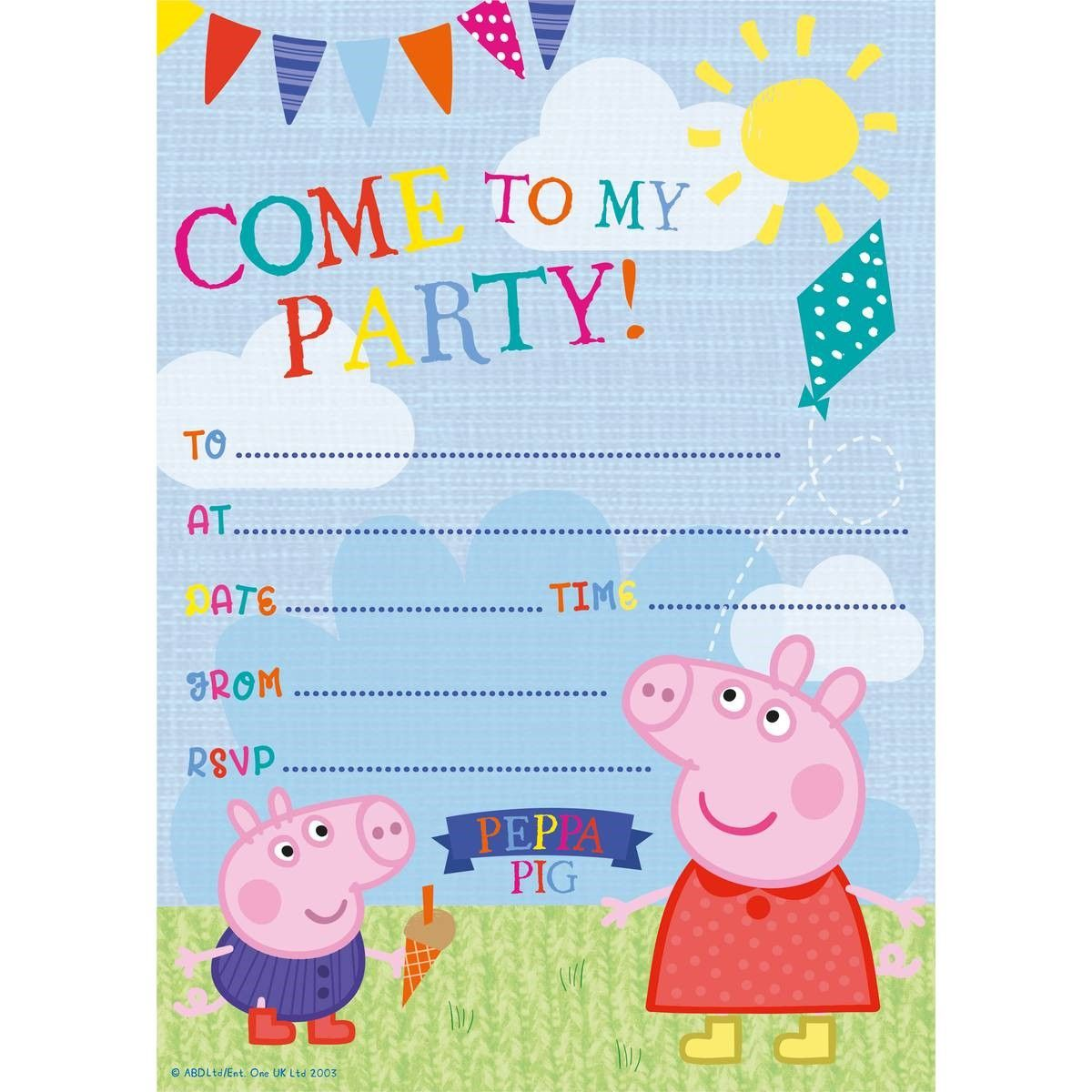 Party Invitations Marvellous Peppa Pig As
