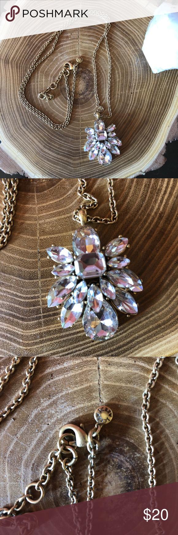J crew crystal bling necklace in my posh picks pinterest