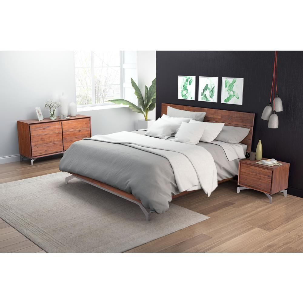 Perth Chestnut (Brown) Queen Sleigh Bed in 11  Zm home, Bedroom