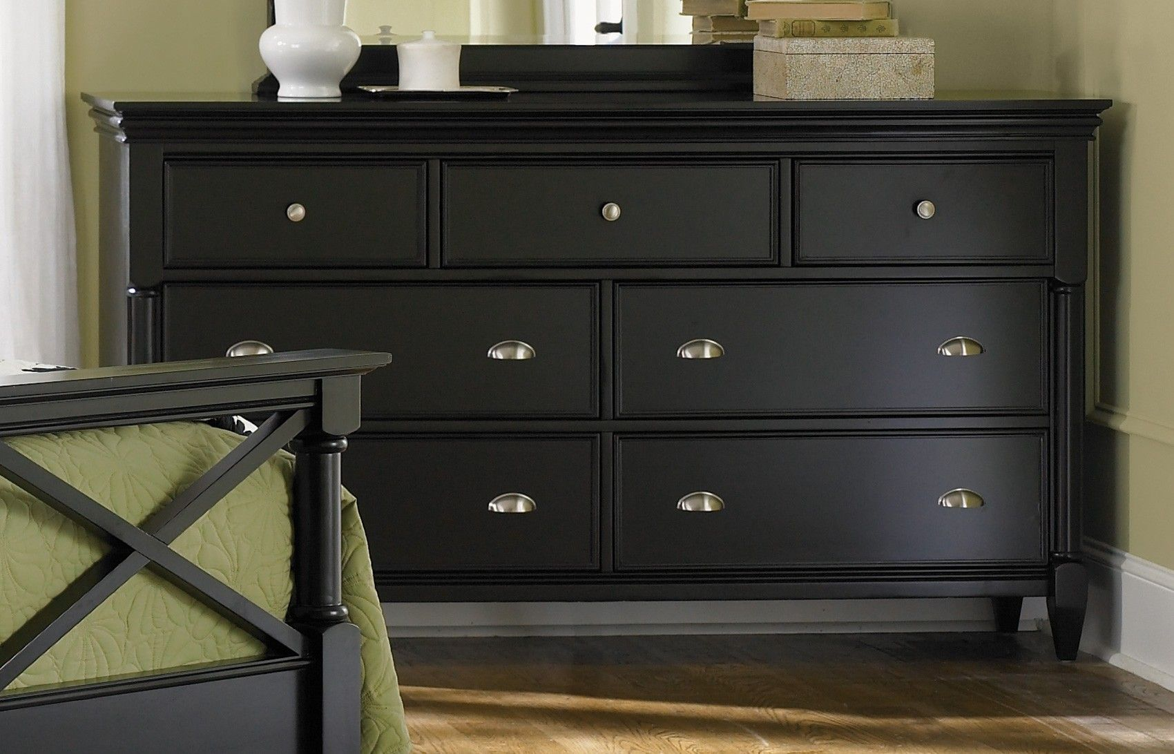 Paint wood furniture black home decor and decoration