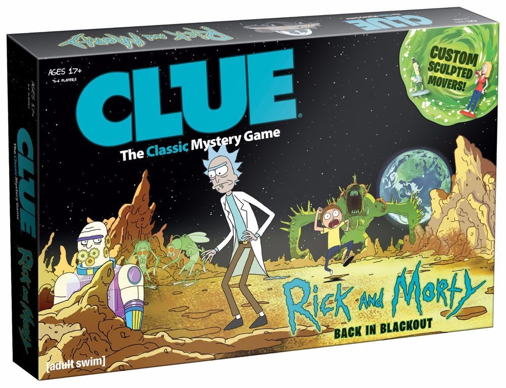 CLUE The Classic Mystery Game Rick and Morty Edition