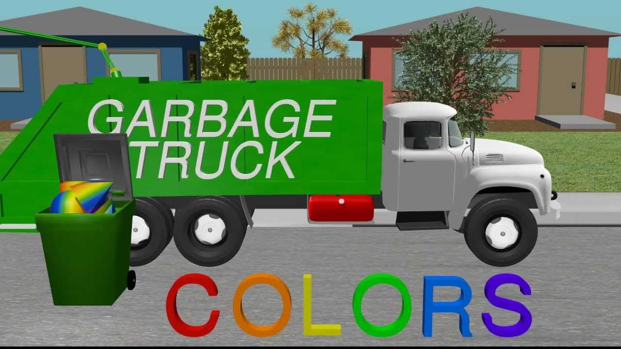 Color Garbage Truck - Learning for Kids | Want Smart Kids ...