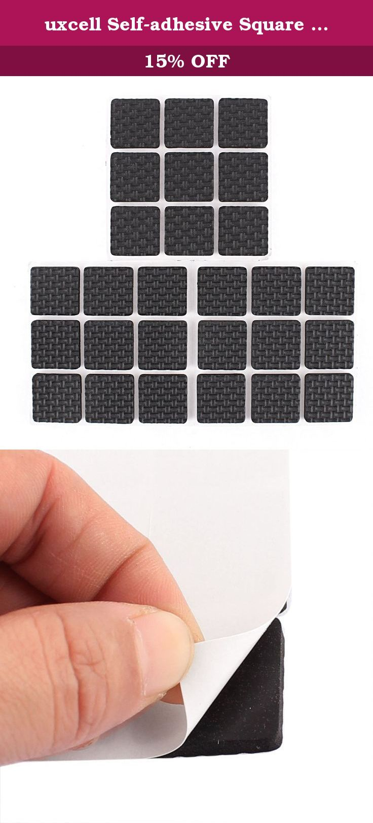 Uxcell Self Adhesive Square Shape Furniture Protection Cushion Pads Mat  27pcs. Features: Self
