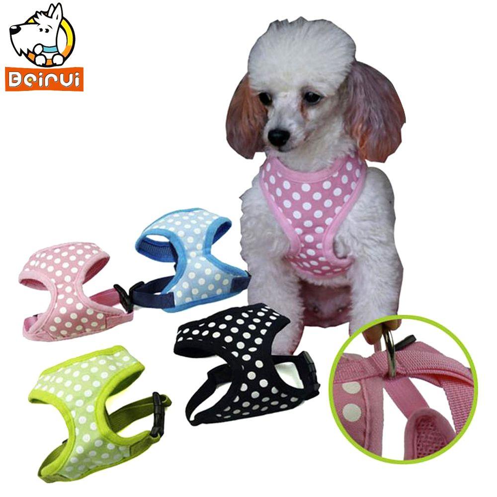 Polka Dot Printed Breathable Mesh Padded Puppy Small Dog Pet