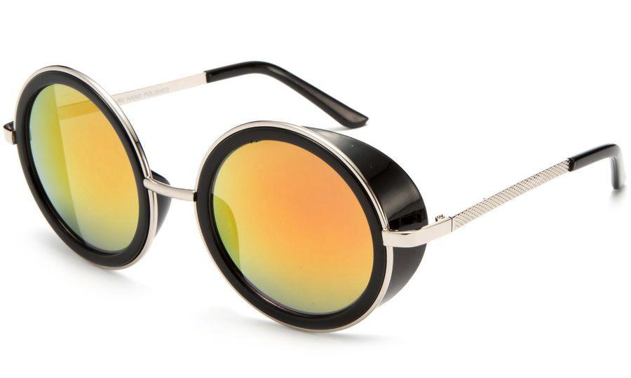 06eff079ac0b Vintage Retro Mirror Round SUN Glasses Goggles Steampunk Punk Sunglasses s  Mirror SUN Vintage