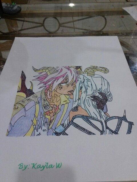 Natsu And Grace In Dragon Form Fairy Tail Drawing Fairy Drawings